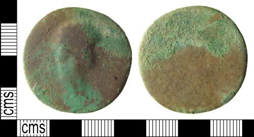HAMP-A2905A: Roman coin : sestertius of (probably) Domitian