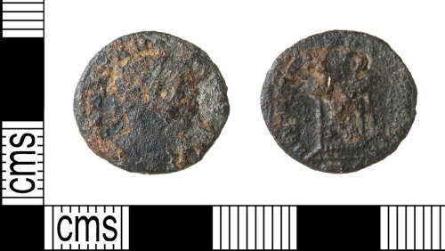 HAMP-A6D6E9: Roman coin : nummus of the House of Constantine