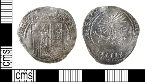 HAMP-A9C9FD: Late medieval coin : 1-real piece of Ferdinand V and Isabella I of Spain