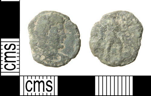 HAMP-B9765A: Roman coin : nummus (perhaps a contemporary copy) of the House of Valentinian