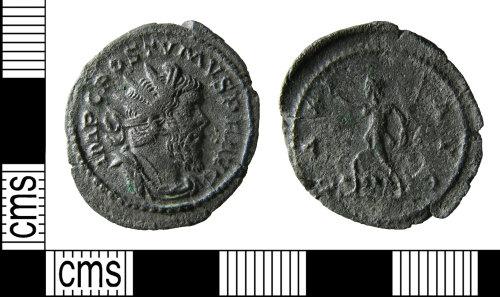 HAMP-BC32A1: Roman coin : Radiate of Postumus