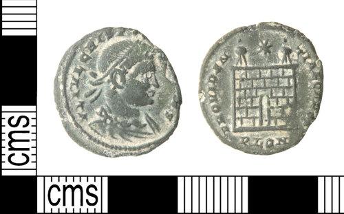 HAMP-C57090: Roman coin : nummus of Crispus
