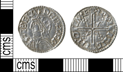 HAMP-C7CF43: Early-medieval coin : penny of Aethelred II