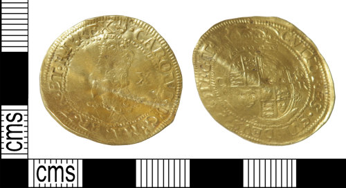 HAMP-E30016: Post-medieval coin : double-crown of Charles I