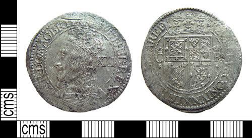 HAMP-EB0B1B: Post-medieval coin : Scottish 12-shilling piece of Charles I