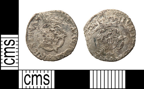 HAMP-F2CF0A: Post-medieval coin : halfgroat of Charles I