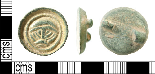 HAMP-F4CAD3: Early early-medieval button brooch