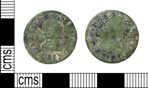 HAMP-F50E24: Post-medieval coin : French Feudal double tournois of the Principality of Château-Renaud