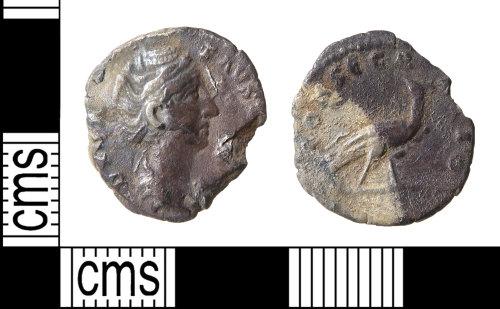 HAMP-FF1752: Roman coin : Diva Faustina denarius