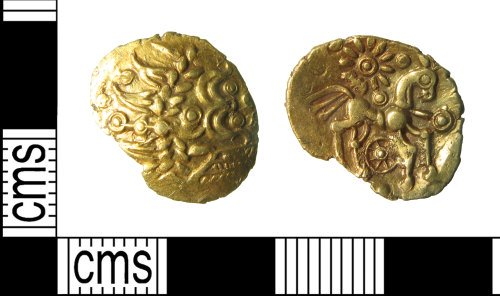 HAMP-DD426A: Iron Age coin : Uninscribed quarter stater of the Atrebates
