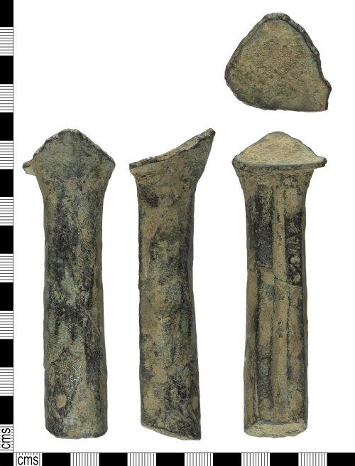 YORYM-F961D7: Post-medieval skillet cooking vessel leg