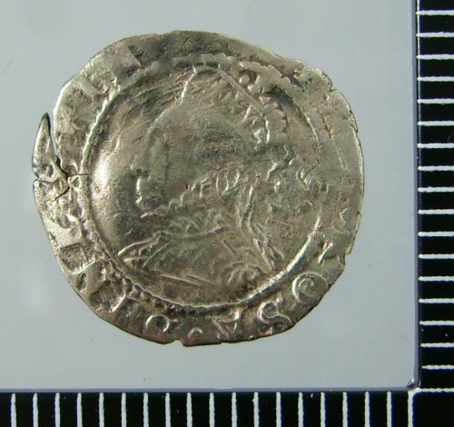 WILT-7758AB: Post Medieval Coin: Threehalfpence of Elizabeth I (obverse)