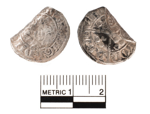 FAKL-D06F27: Medieval silver penny, Edward III