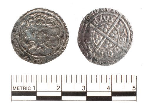 FAKL-FD80D0: Medieval coin, halfgroat of Edward IV
