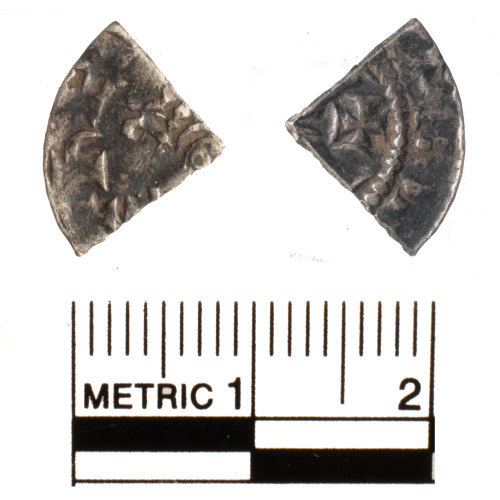 FAKL-FE3593: Medieval coin, cut farthing of Henry II