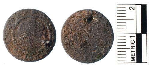 FAKL-409756: Post Medieval copper alloy token