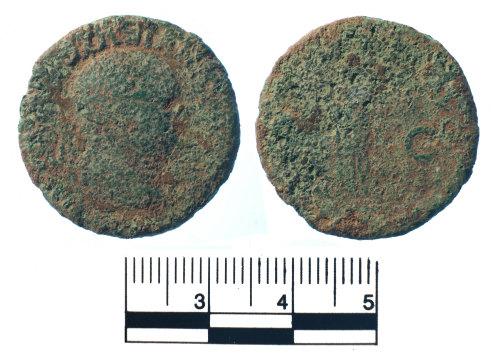 FAKL-4F2722: Roman copper alloy coin