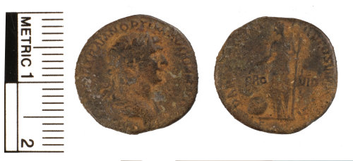 FAKL-6277B2: Roman silver denarius of Trajan