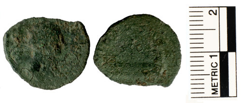 A resized image of Roman coin of Allectus