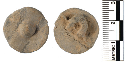 FAKL-AAD9B9: Medieval cast lead button