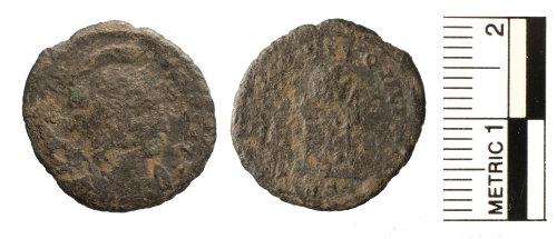FAKL-4D38D2: Roman coin, nummus, House of Constantine
