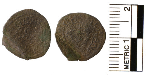 FAKL-0B50AC: Post Medieval coin, Rose farthing of Charles I