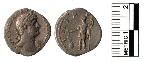 FAKL-3F4479: Roman coin, silver denarius of Hadrian