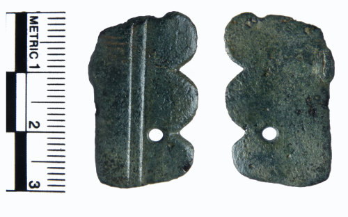 A resized image of Early Medieval sleeve clasp