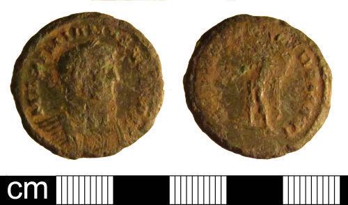ESS-23AF52: Roman coin: nummus of Galerius