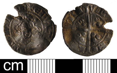 ESS-492796: Medieval coin: penny of Edward I or II