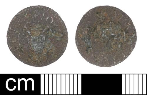 SOM-2BDE13: Post Medieval Token