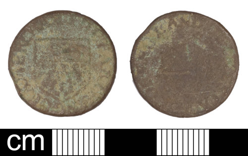A resized image of Post Medieval Token