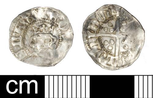 SOM-439D50: Medieval Coin: Halfpenny of Edward III
