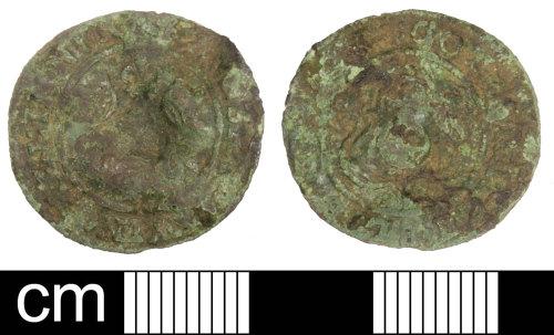 SOM-731240: Post Medieval Jetton: Rose Orb of Hanns Krauwinckel