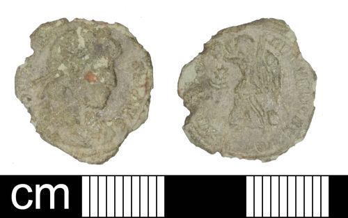 SOM-CF1054: Roman Coin: Nummus of Valens