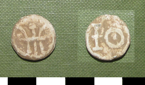 A resized image of Post-Medieval lead token, 17th or 18th century