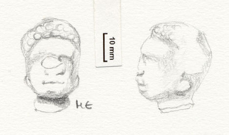 NLM4586: Figurine Head? 4586