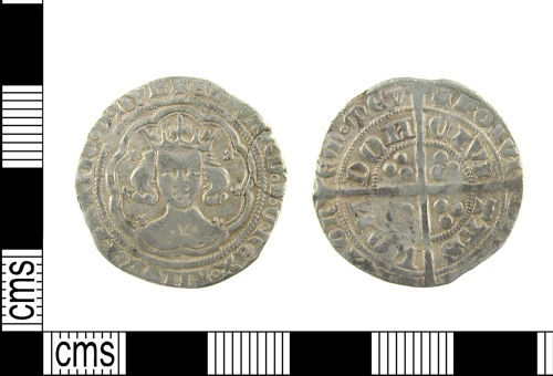 A resized image of Medieval silver coin: groat of Edward III