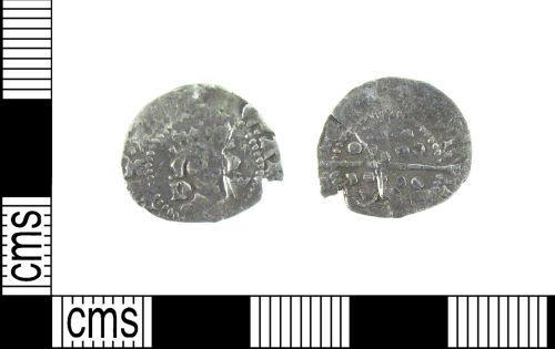 LON-D57185: A Medieval silver half penny of Edward IV