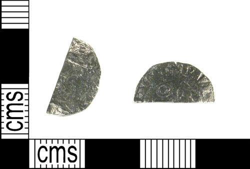 LON-6BA1A5: Medieval silver coin: cut farthing