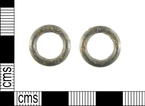 LON-B11471: A late Medieval lead alloy annular buckle dating to late 14th - early 15th century