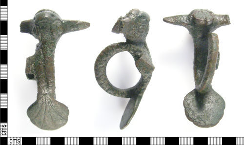 LON-B3AE96: Roman or Post Medieval copper alloy mount