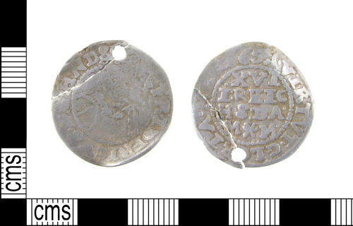 LON-F5BF52: Post Medieval silver perforated coin