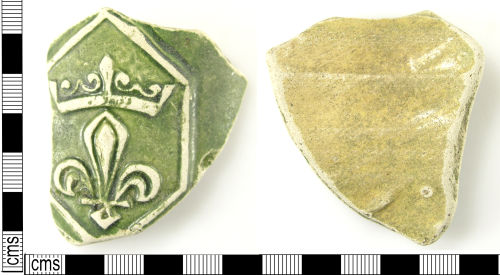 LON-2164F2: Medieval ceramic body sherd from a jug or bottle of Saintonge ware