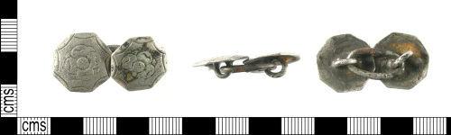 LON-C990D7: Post Medieval silver cuff links