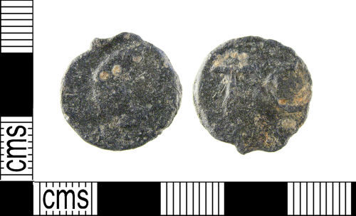 LON-595E3A: A Post Medieval lead alloy token, dating to the 17th century.