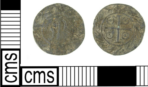LON-D08605: Late Medieval - early Post Medieval lead alloy token