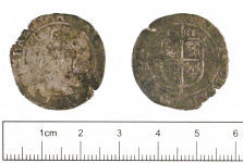 A resized image of Post-medieval coin : Sixpence of Elizabeth I