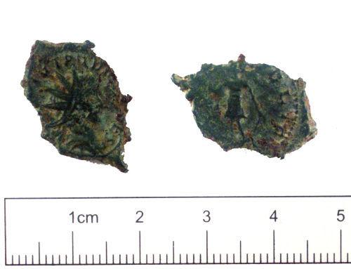 YORYM-8D2DE4: Roman coin : Radiate of Tetricus II