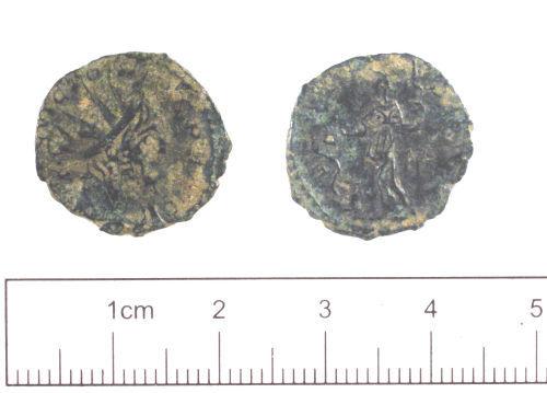 YORYM-181A22: Roman coin : Radiate of Victorinus
